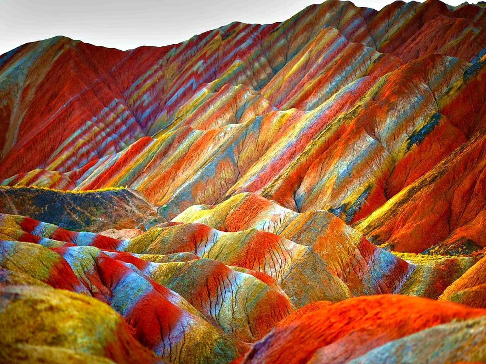 Скалы Zhangye Danxia 5