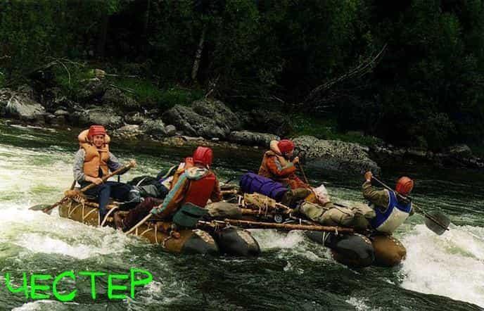 Картинка плота на реке - честера